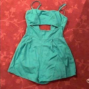 Turquoise Romper